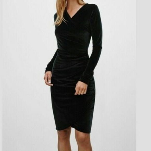 Aritzia Dresses & Skirts - Aritzia Wilfred Free Velvet Klum Dress - Sz XXS